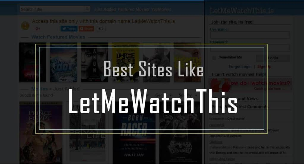 Letmewatchthis Halloween 2020 Top 12 Best Sites like LetMeWatchThis , Alternatives to LetMeWatchThis