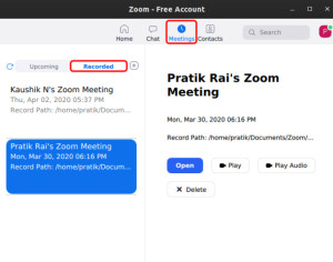 Record Zoom Meetings