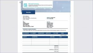 Payment Invoice