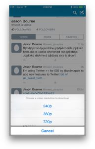 Download Twitter Videos on iPhone