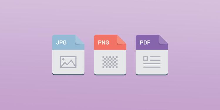 PNG vs. JPG vs. PDF