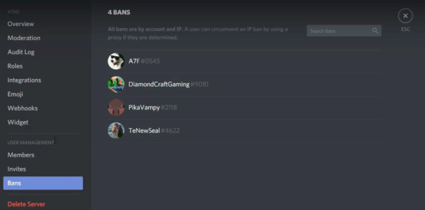 Unban Someone from Discord