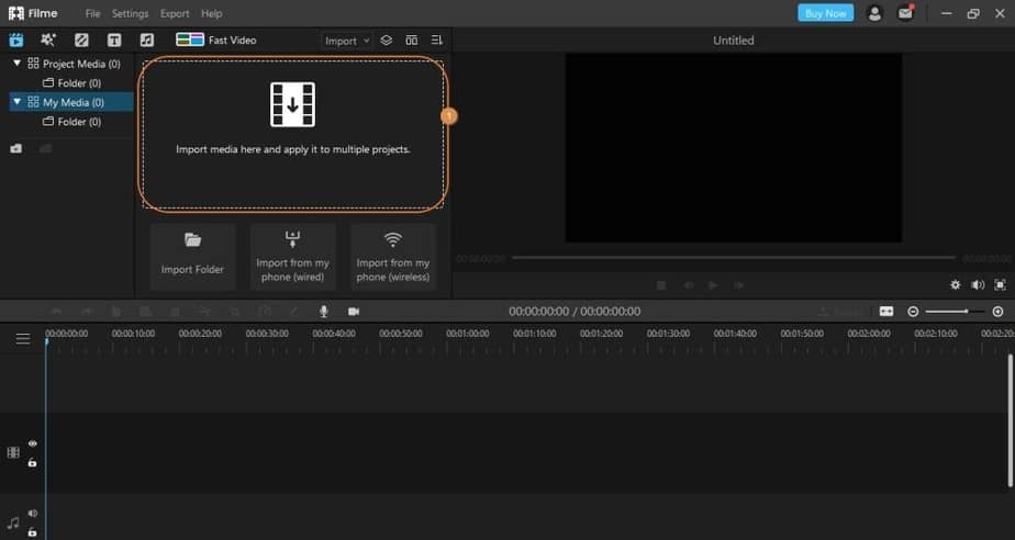 import media to split audio imyfone filme