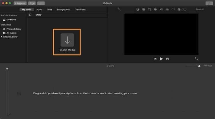import video to split audio imovie